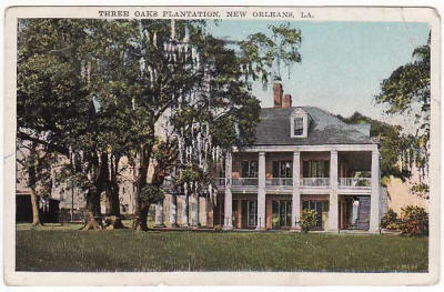 Three Oaks Postcard 1937